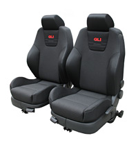 RECARO CLOTH  FRONT SEAT SET W/ AIR BAGS (FITS VW MK4 GOLF JETTA 4 DR) GLI
