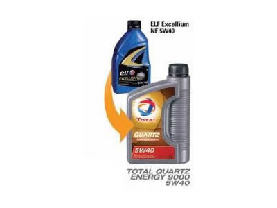 ELF TOTAL QUARTZ ENERGY 9000 SYNTHETIC TECHNOLOGY MOTOR OIL 5W40
