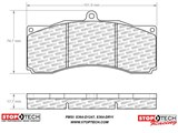 StopTech Performance Street Compounds brake pad for ST60 BBK /