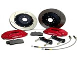Stoptech Big Brake Kit 4 piston 355MM Disc MK5 MK6 GTI A3 / Red Caliper with Slotted Rotor as shown