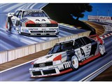 Audi 90 Turbo and 200 Turbo Autographed Racing Prints By Colin Carter /